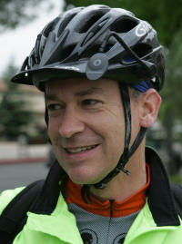 Dan Karr in 2007, when he rode with Joe Rodriguez for an article about bicycle commuting.